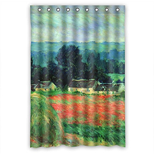 - Dries Quickly Polyester Shower Curtain, Claude Monet Art Painting, Size Width X Height / 48 X 72 Inches / W H 120 By 180 Cm Custom Design, Best Fit For Bathroom
