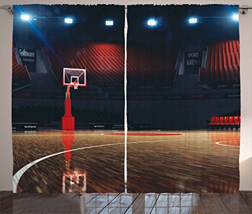 Curtains Ambesonne Picture Basketball Bedroom