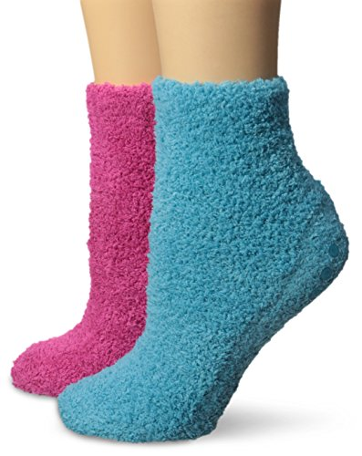 Dr. Scholl's Women's Spa with Aloe Low Cut 2 Pack Sock, FU/BL, (Cut 2 Pack Socks)