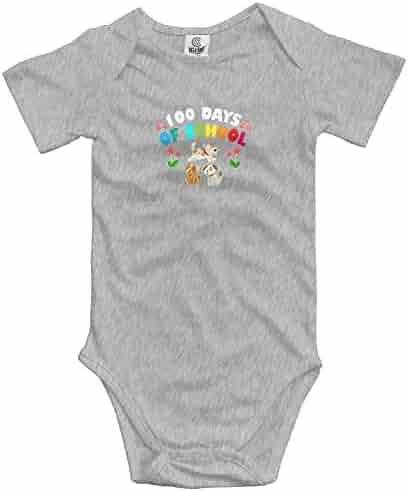 14ae095cc4e Rainbowhug 100th Days Of School Unisex Baby Onesies Cute Newborn Clothes  Unique Baby Bodysuit Comfortable Baby