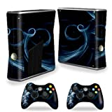MightySkins Protective Vinyl Skin Decal Cover for Microsoft Xbox 360 S Slim + 2 Controller skins wrap sticker skins Stone Waves