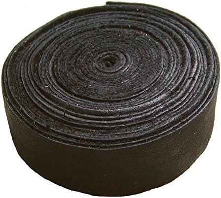 Ensuite Lederband Einfassband Rindleder braun, vegetabil gegerbtes Leder, Länge 10 m, Breite 15 mm, Stärke ca. 0,9/1,1 mm