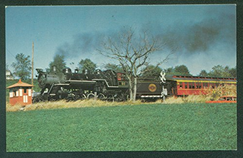 (CHERRY HILL CROSSING Great Western Railway Strasburg Railroad Train Postcard)