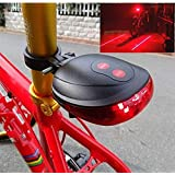 Lukzer Bicycle Tail Led Laser Lights (Random Colour) / LED Flashing Lamp Tail Light Rear Cycling Bicycle Bike Safety Warning