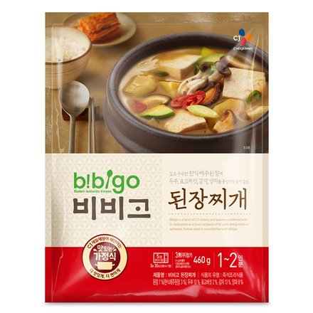 Korean Bibigo Pre-made Packaged Tofu Kimchi/Soybean Paste Soup (Soybean Paste Soup, 3 Pack)