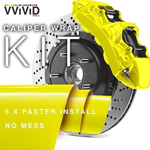 VViViD Enamel Paint Wrap High Temperature Vinyl Film for Calipers (Yellow) ()