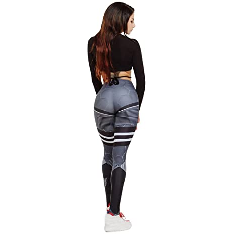 afa334a10dc180 Buy Womens Yoga Pants, ST.Dona Hot Sale New Honeycomb Printing Hips High  Waist Yoga Leggings Skinny Gym Sports Training Pants (S, Black) Online at  Low ...