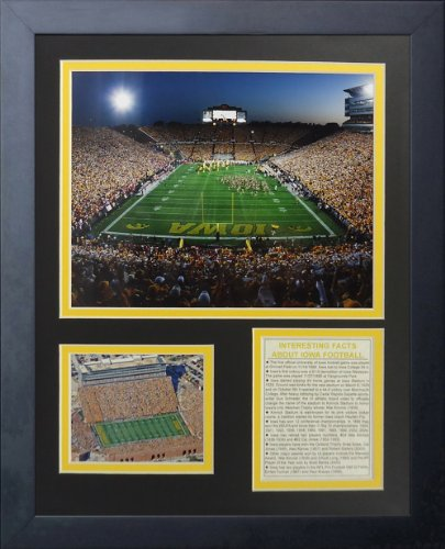 Legends Never Die Iowa Hawkeyes Kinnick Stadium Framed Photo Collage, 11 by 14-Inch
