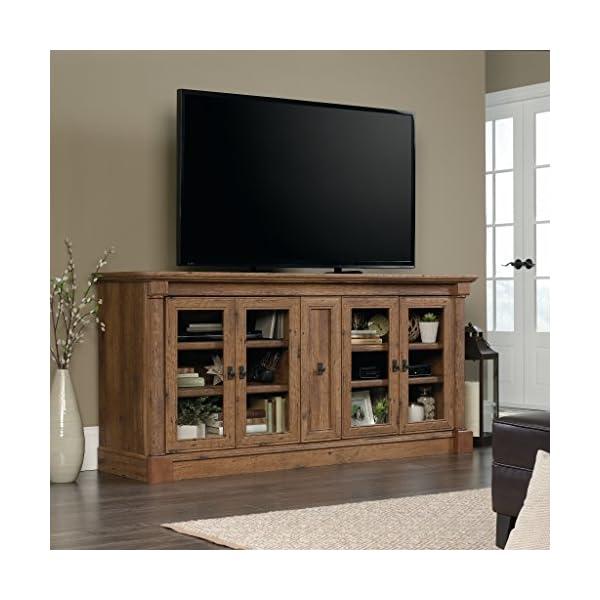 """Sauder Palladia Credenza, For TVs up to 70"""", Vintage Oak"""