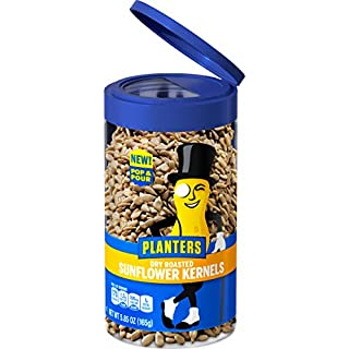 PLANTERS Pop & Pour Dry Roasted Sunflower Kernels 5.85 oz Jar - Portable Snack for Easy Snacking - Alternative to Sunflower Seeds - Great After School Snack or Movie Snacks - Kosher