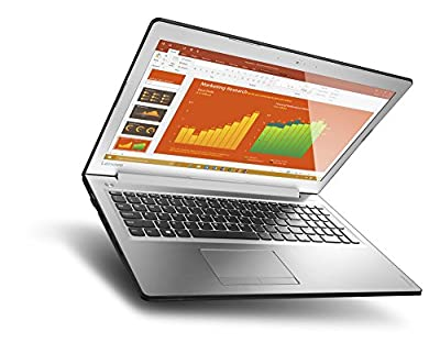 "Lenovo Ideapad 510 15.6"" Laptop, Silver (Intel Core i7-7500U, 12GB DDR4, 256GB SSD, NVIDIA GeForce 940MX, Windows 10) 80SV0058US"