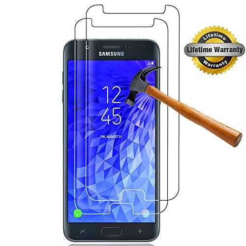 [2-Pack] SKTGSLAMY Galaxy J7 2018 Screen Protector, Samsung Galaxy J7 (2018) Tempered Glass Screen Protector, Anti-Scratch,Bubble Free,Lifetime Replacement Warranty [NOT fit for Galaxy J7 2017]