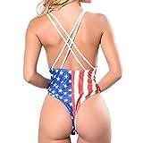 ZOMUSAR Women Brazilian Sexy Deep V Neck American