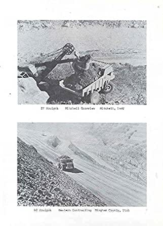 1960 Haulpak Construction Dump Truck Photo Brochure