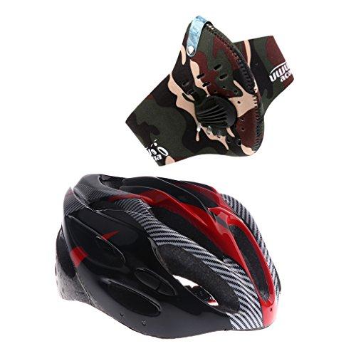 MagiDeal Casque De Vélo De Montagne Sports Cyclisme Protège-Tête + Masque Filtre Demi-Masque Accessoire Cyclisme