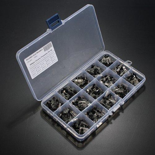 Ardokit 600個15値X 40個トランジスタボックス付きto - 92詰め合わせボックスキット   B010ZW33SI