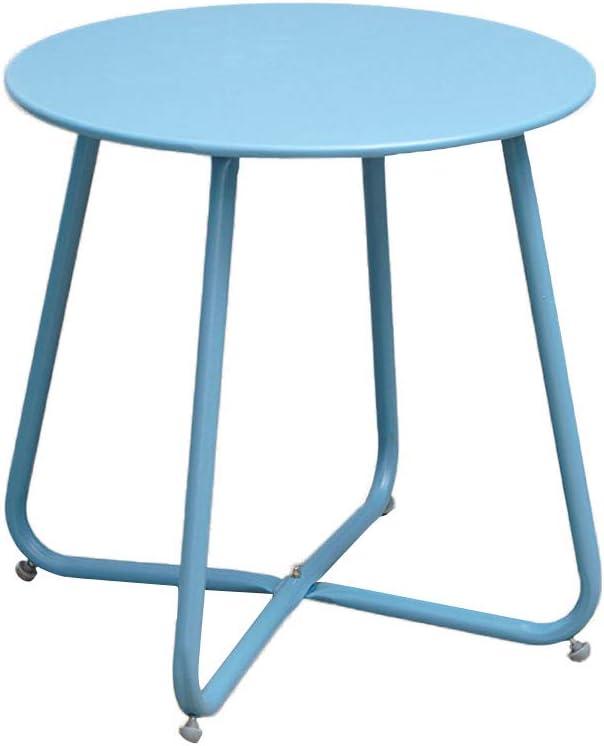 Beste Plaats KangJZ-Tables KJzhu woonkamertafel, slaapkamer ijzer kunst multifunctionele kleur nachtkastje balkon sofa bijzettafel - 45 * 45 cm groot Blauw 3r6sUTv