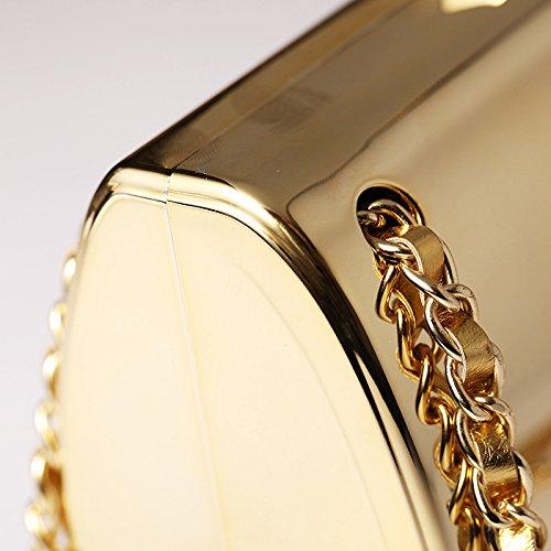 Bag Ladies Bridal Evening Wedding Clutch Party Gold Purse Bridal Elegant Diamante Handbag Clutch Small Crossbody Handbag PXqx7ffd