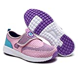 DREAM PAIRS Toddler 170387-K Pink Lt.Blue Purple Comfort Loafer Shoes Sneakers - 10 M US Toddler