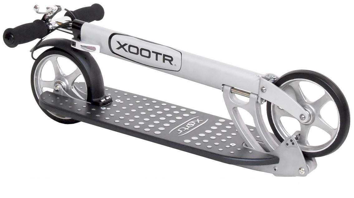XOOTR Mg Teen/Adult Kick Scooter - 800+lb Capacity - Life Long Backing - QuickClick Latch Folding Mechanism - Front & Rear Brake