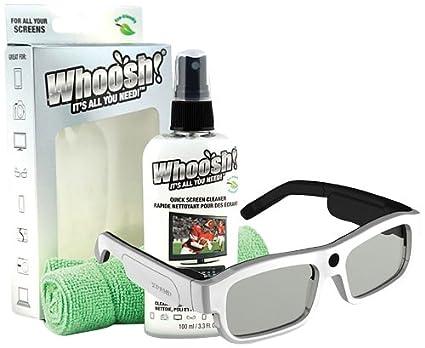 e0ed9ce1174 Amazon.com  Xpand X104MX1BUNDLE Xpand Glasses and Whoosh Screen Cleaner   X104MX1 BUNDLE YOUniversal 3D Active Adult Glasses + 3.3oz Screen Cleaner  (White)  ...