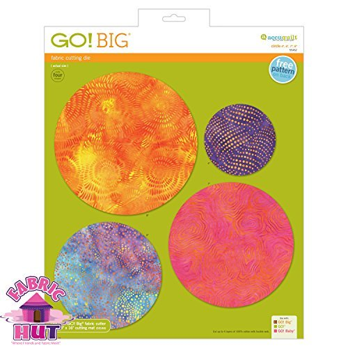 GO! Big 4'', 6'', 7'', 8'' Circle Fabric Cutting Die by AccuQuilt