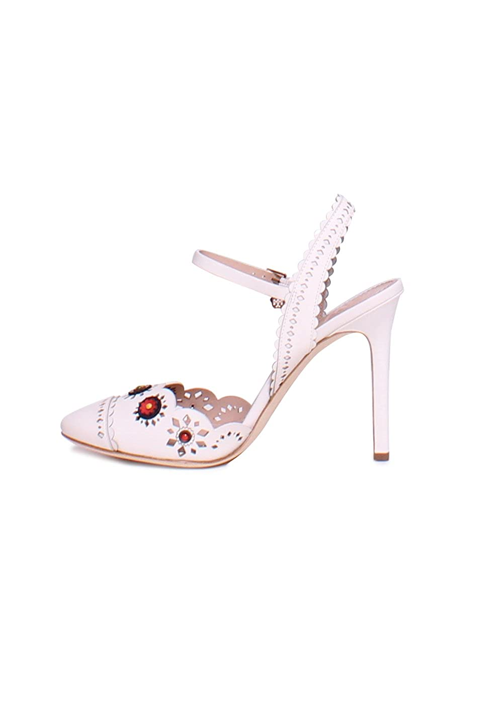 a150f675fe5 Tory Burch Marguerite Perforated Leather Sandals