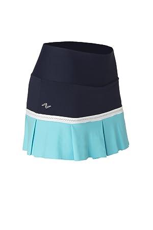 Naffta Tenis Padel - Falda-short para mujer, color marino/turquesa, talla S: Amazon.es: Deportes y aire libre