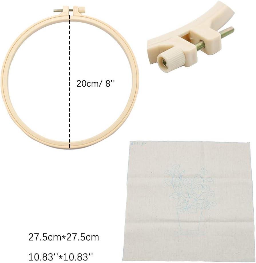 17 GuoFa Kit de punto de cruz para principiantes de 20 cm hecho a mano con patrones de hilo e instrucciones idioma espa/ñol no garantizado
