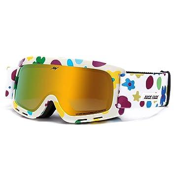 LBAFS Gafas De Esquí para NiñOs Gafas Antivaho Dobles Gafas De Esquí para MontañIsmo Gafas De