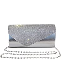 Labair Womens Rhinestone Clutch Purse Evening Bags Wedding Party Cocktail Handbag.