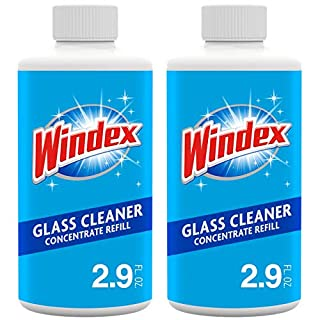 Windex Glass and Window Cleaner Concentrate Refill, Two 2.9 Bottles