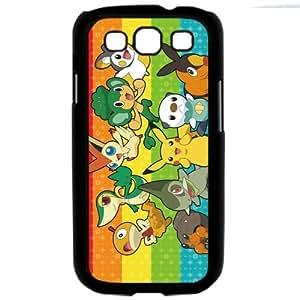 Pokemon Popular Cute Pikachu Samsung Galaxy S3 SIII i9300 TPU Soft Black or White Cases (Black)