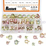 #5: Rustark 55-Pcs Spring Band Clamp Clips Silicone Vacuum Fuel Hose Water Pipe Air Tube Hose Clamps Fasteners Assortment Kit- (7mm 8mm 9mm 10mm 11mm 12mm 13mm 14mm 15mm 16mm 17mm)