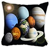 "Rikki Knight Solar System Planets Design 16"" Square Microfiber Throw Decorative Pillow with DOUBLE SIDED PRINT (Insert NOT included)"