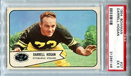 1954 Bowman Darrell Hogan # 37 PSA 5 Pittsburgh Steelers Football Trading Card Baylor University ()