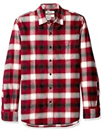 Men's Slim-Fit Long-Sleeve Brushed Flannel Shirt