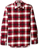 Goodthreads Men's Slim-Fit Long-Sleeve Brushed Flannel Shirt, red Shadow Plaid, X-Large