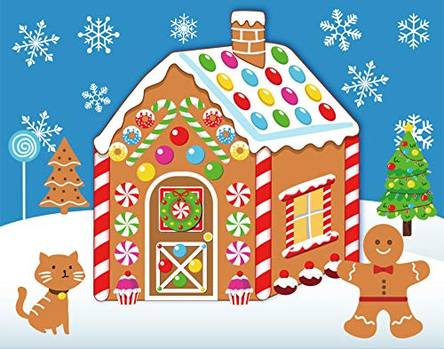 Make-A-Gingerbread House Stickers Christmas Party Game/Craft/Activity/Favor/Supplies - 13 Finished Products