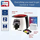 Badgy200 Color Plastic ID Card Printer with