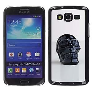 Paccase / SLIM PC / Aliminium Casa Carcasa Funda Case Cover - Skull Plastic Reflective 3D Art Printing - Samsung Galaxy Grand 2 SM-G7102 SM-G7105