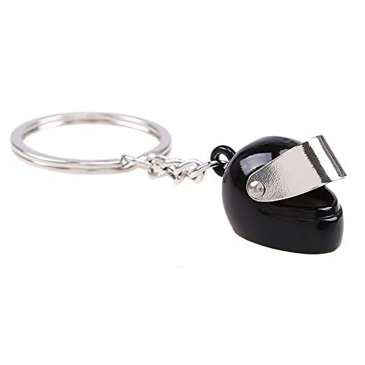 Amazon.com: Creative Metal Motorcycle Helmet Racing Street Moto Casco Men Women Fashion Keychain Pendant Classic Key Ring Keyfob Car Styling: Office ...