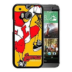 Popular Custom Designed Case For HTC ONE M8 With NCAA American Athletic Conference AAC Football Louisville Cardinals 6 Black Phone Case