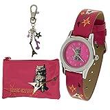 Carvel Rock Kitten Pink Watch Key Ring Purse Girls Jewellery Gift Set G318.71CA