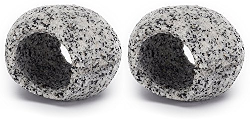 Penn Plax Stone Hideaway, Aquarium Decorations Rock Hideout, Small Decor For Fish Tank or Mini Bowl, Best for Turtle Terrarium, Betta Fish Accessories, or Goldfish House