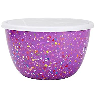 Zak! Designs 2-qt. Confetti Serving Bowl with Lid, Orchid