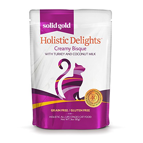 Solid Gold Holistic Delights Turkey & Coconut Milk Creamy Bisque Grain Free Wet Cat Food for All Life Stages, 3 oz, 24 count