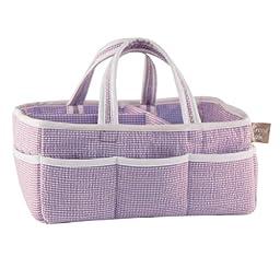Trend Lab Lilac Gingham Seersucker Storage Caddy, Purple