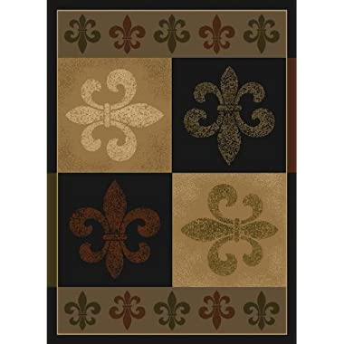 United Weavers of America French Quarter Area Rug, 5'3  x 7'2 , Olive