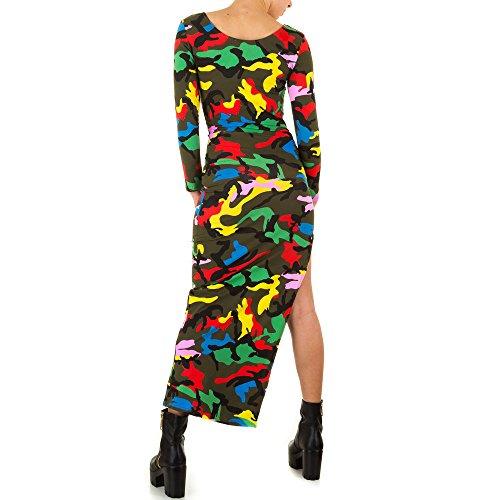 Ital-Design - Vestido - para mujer Grün Multi